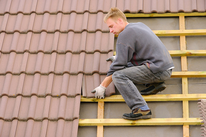 Dach decken - tile roof covering 01